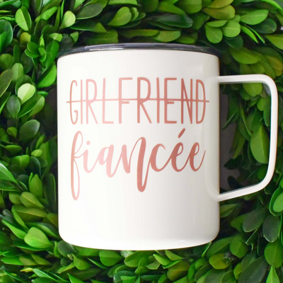 Girlfriend Fiancee Engaged Coffee Cup Tumbler, Tumbler, thewhiteinvite, The White Invite - The White Invite