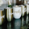 Swig Wine Tumbler Bridesmaid Gift Rose Gold / Gold / Pearl - Bachelorette Gift - Custom Personalized Monogrammed Tumbler With Lid, Tumbler, thewhiteinvite, The White Invite - The White Invite