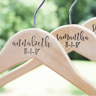 Personalized Bridesmaid Wedding Hanger