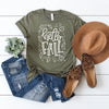 Hello Fall Women's Graphic Tee - Fall Shirt, T-Shirt, Printify, The White Invite - The White Invite