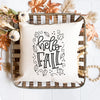 Hello Fall Pillow Cover - Fall Decor - Throw Pillow, Tumbler, thewhiteinvite, The White Invite - The White Invite
