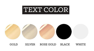 Text Color options for Semi Fitted Wedding Party Shirts