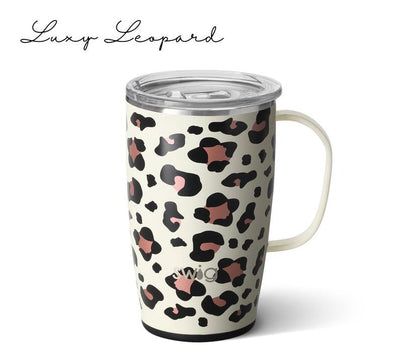 SWIG Personalized Coffee Mug in luxy leopard
