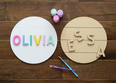 Personalized Round Name Sign Custom Kit