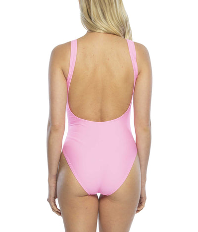 Just Married One Piece Swimsuit back