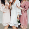 Lace Bridesmaid and Bridal Robes, Robe, thewhiteinvite, The White Invite - The White Invite