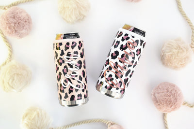 Leopard Slim Can Cooler has two design options