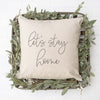 Let's Stay Home Throw Pillow Cover - Fall Decor, Pillow, thewhiteinvite, The White Invite - The White Invite