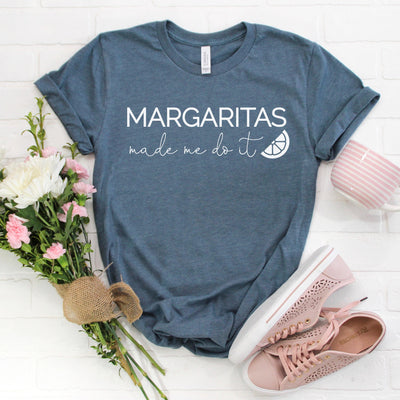 Margaritas Made Me Do It Women's Graphic Tee