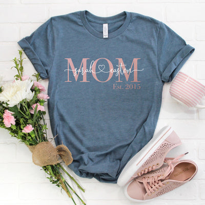 Personalized Mom Shirt - Women's Graphic Tee - Free Shipping
