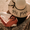 Personalized mrs. price (or Your Choice of Wording) Beach Floppy Hat front