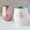Pearl White SWIG Wine Tumbler in Carolina Font