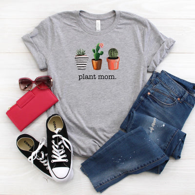 PLANT MOM PLANT LOVER WOMEN'S GRAPHIC TEE, T-Shirt, Printify, The White Invite - The White Invite