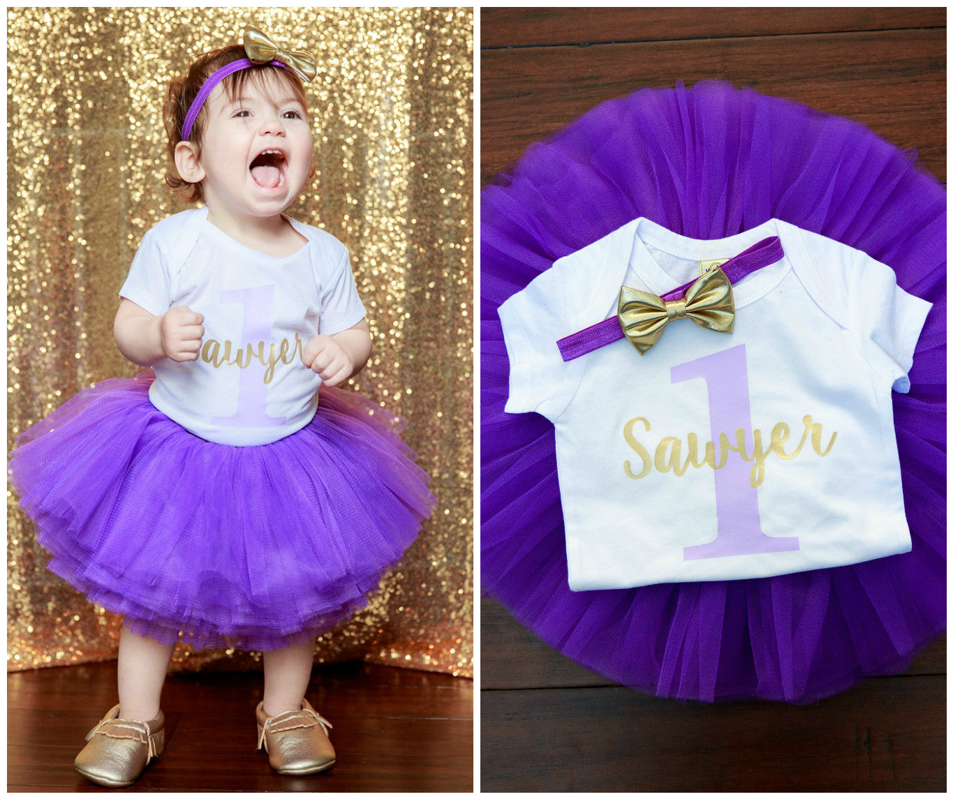 LIVE SALE 1st Birthday Girl Outfit Personalized First Shirt