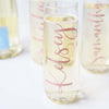 Personalized Stemless Champagne Flutes with Rose Gold Foil perfect for bachelorette party