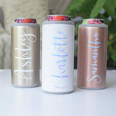 Skinny Can Cooler - SWIG in gold diamond white and rose gold variants