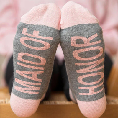 Maid of Honor Wedding Party Socks