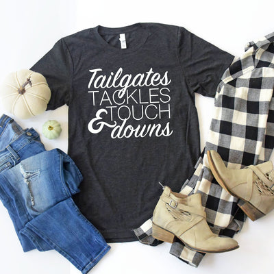 Tailgates Tackles & Touchdowns Graphic Tee, Tumbler, thewhiteinvite, The White Invite - The White Invite