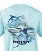 premium performance mens short sleeve fishing shirts dually marlin