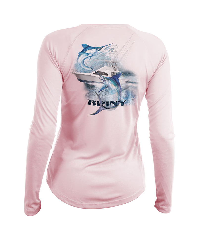 womens long sleeve fishing shirt dually marlin
