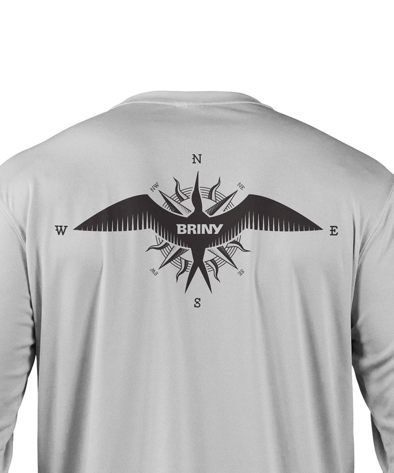 Briny mens long sleeve fishing shirts frigate luck graphic
