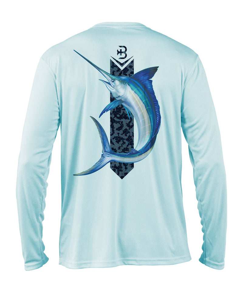 Briny mens fishing shirts long sleeve marlin