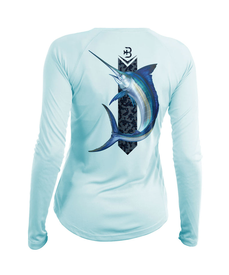womens long sleeve fishing shirt marlin
