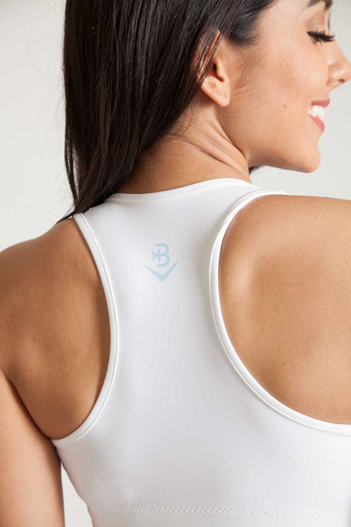 Sport Bra Pinnacle-White Wash