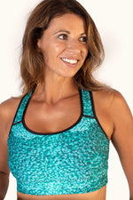 Sports Bra Coral Teal