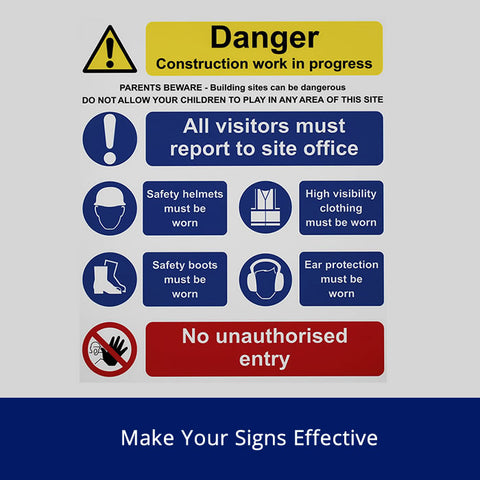 Make your Signs Effective Safety Talk