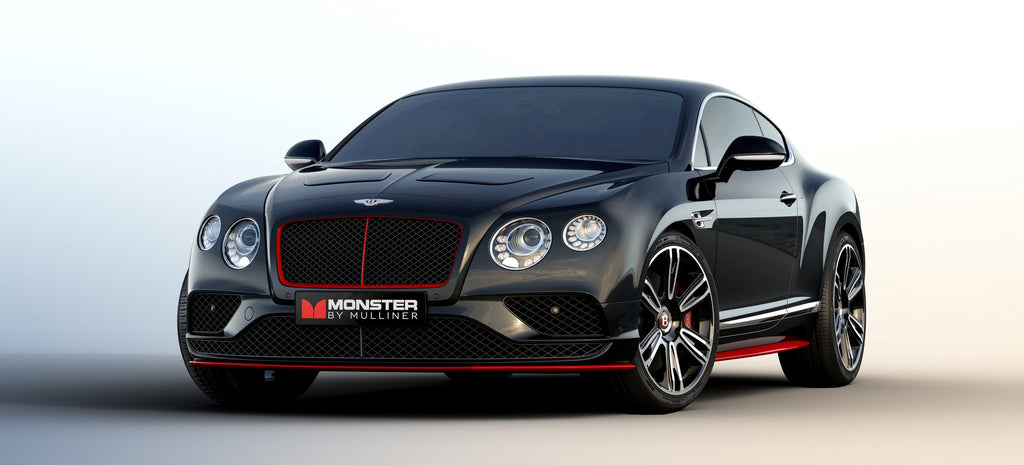 "Bentley and Monster Debut ""Monster by Mulliner"" Continental GT V8 S Featuring Pure Monster Sound at CES 2016 in Las Vegas"