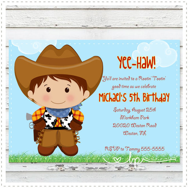 Cute Cowboy Invitation