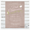 Laurel Dove Baptism Invitation