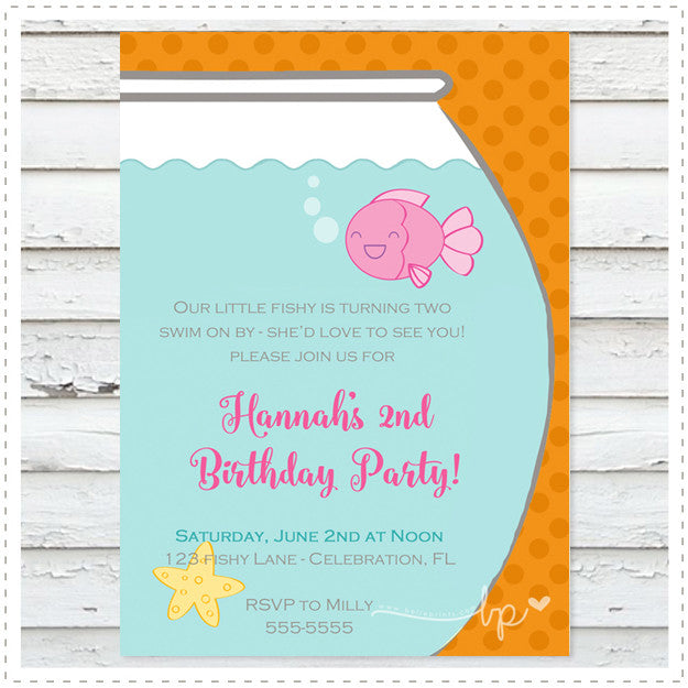 Pink Fishy Invitation