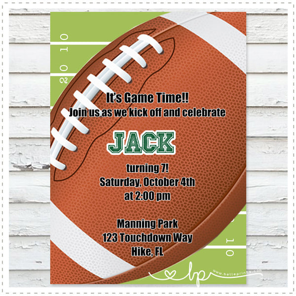 Football Invitation