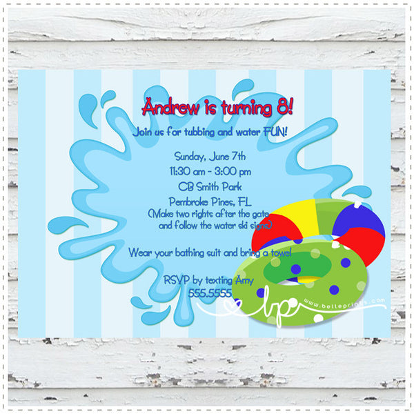 Tubing Party Invitation