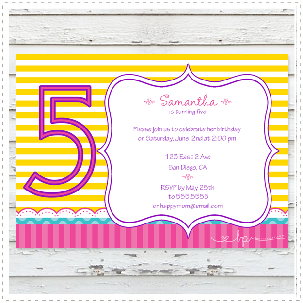 Lemon Crush Invitation
