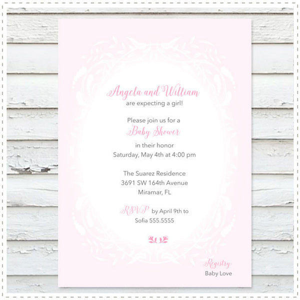Storybook Baby Shower Girl Invitation