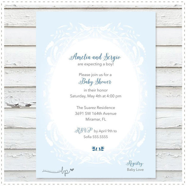 Storybook Baby Shower Boy Invitation