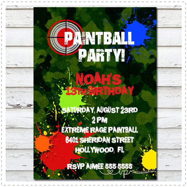 Paintball Invitation