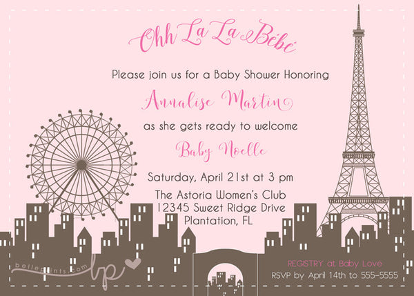 Paris Chic Baby Shower Invitation