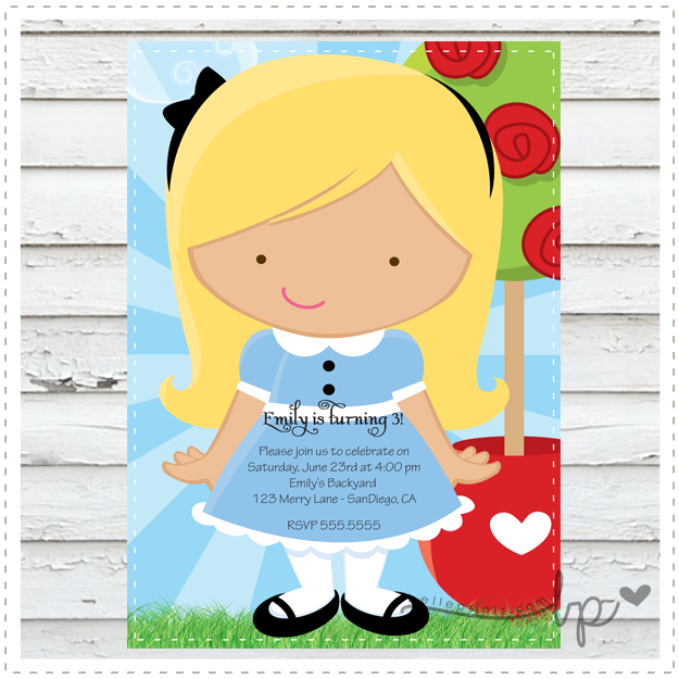 Little Alice in Wonderland Invitation