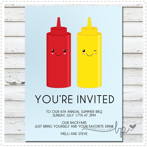 Ketchup and Mustard Invitation