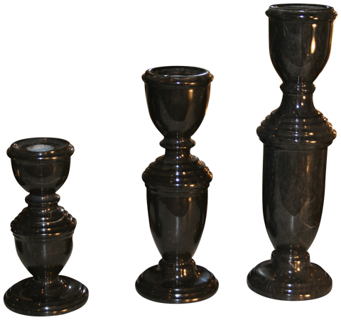 Colonial Candle Holder- Ebony - Marble Products International