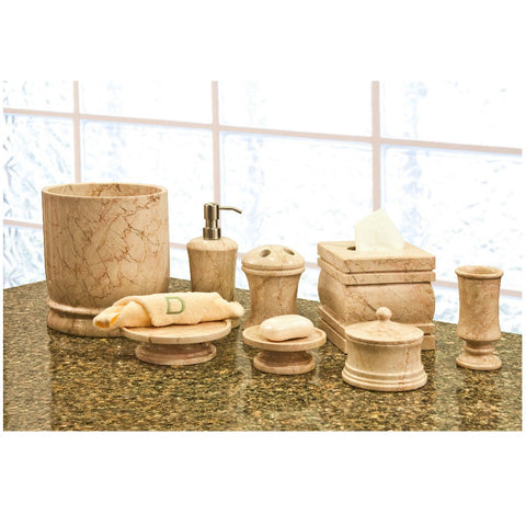 Marble Bath Accessory - 8 piece Set - Marble Products International