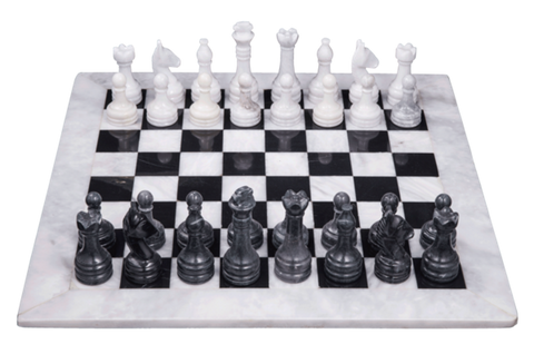 Chess Sets - Black & White - Marble Products International