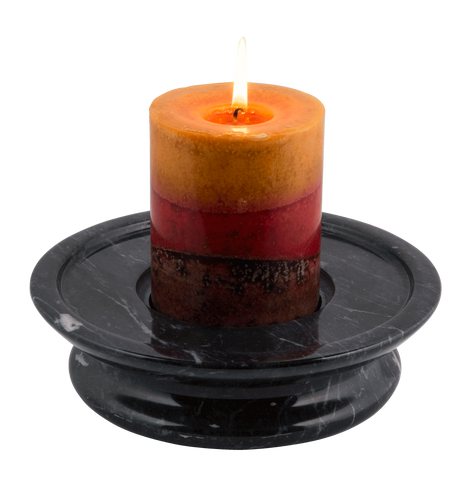 3 Tier Candle Holder - Ebony - Marble Products International - 1