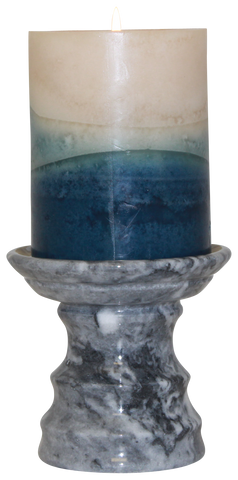 Cashmere Grey Pedestal Candle Holder - Marble Products International