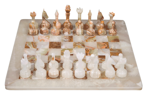 Chess Set- Onyx Chess with Personalization - Marble Products International