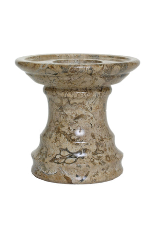 Fossil Stone Pedestal Candle Holder - Marble Products International